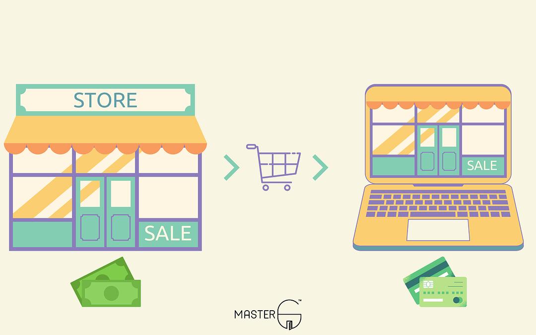 Offline stores to online base