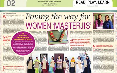Paving the way for 'Women Masterjis'